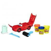 Play doh playset relâmpago mcqueen carros hasbro - c1043 - Hasbro