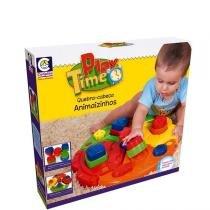 Play Time Quebra-cabeça Animaizinhos - Cotiplás -