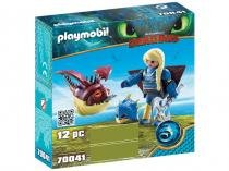 Playmobil Astrid com Hobgobbler - Como Treinar O Seu Dragão 3 12 Peças