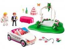 Playmobil com Acessórios Sunny Brinquedos - Set Casamento com Noivo, Bolo e Carro