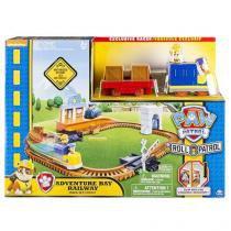 Playset trem de resgate patrulha canina adventure bay railway sunny 1350 -