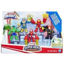 Playskool Marvel Super Hero Adventures 5 Bonecos Hasbro 13204 E0155 -