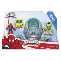 Playskool super hero armadura + 2 spider man e octo mech hasbro b5019 11538 - Hasbro