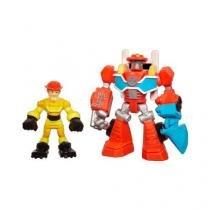Playskool Transformers Rescue Heatwave e Kade Burns - Hasbro - hasbro