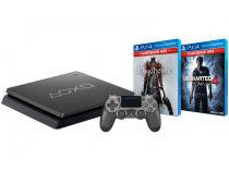 Playstation 4 1TB 1 Controle - Sony Bloodborne + Uncharted 4: A Thiefs End