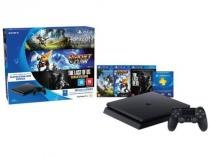 Playstation 4 500GB Sony Playstation Hits Bundle - 1 Controle 3 Jogos 1 Voucher PS Plus 3 meses -