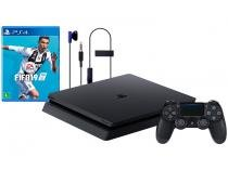 Playstation 4 Slim 1TB Sony 1 Controle - com 1 Jogo Headset