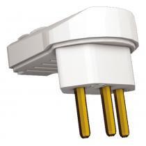 Plug Macho para Tomada 90 Graus 2P+T 10A Cinza 6007 - Techna - Techna