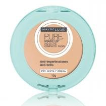 Pó compacto maybelline pure makeup bege claro 13g -