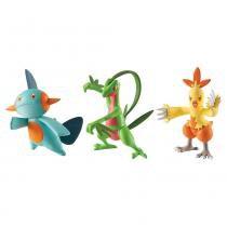 Pokémon 3 pack grovyle - combusken - marshtomp tomy t18524 - Pokémon
