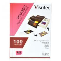 Polaseal para Plastificação 80x110mm de 0,05mm - 100 unidades VISUTEC -