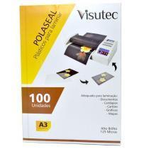 Polaseal para Plastificação A3 de 0,05mm - 100 unidades VISUTEC -
