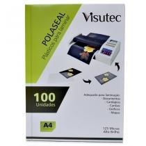 Polaseal para Plastificação A4 de 0,05mm - 100 unidades VISUTEC -