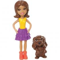 Polly Boneca Shani com Bichinho - Mattel - Polly Pocket