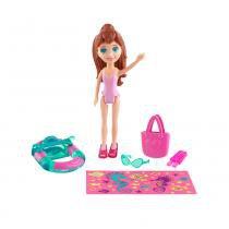 Polly Pocket - Amigas Parque Aquático - Boneca Lila - Mattel -