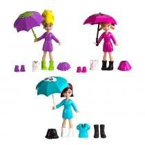 Polly Pocket Estações da Polly Diversão na Chuva - Mattel -