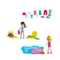 Polly Pocket Estações da Polly Diversão na Piscina - Mattel - Polly Pocket
