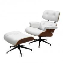 Poltrona Charles Eames Confort Branca - Branco - MARKA MîVEIS