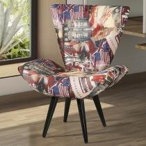 Poltrona Decorativa Pés Palito tecido - American Comfort Luiza