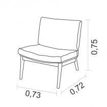 Poltrona ID com base de madeira - Vermelho 7290 - Nova America