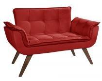 Poltrona Namoradeira Opalla Suede - Base palito - Dikaza móveis e decorações