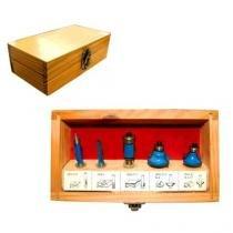 Pontas para tupia com 5 peças azul - Lee Tools