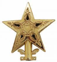 Ponteira Natalina Estrela Vazada 8,5 cm Dourada - Comprenet