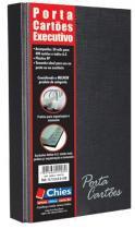 Porta Cartões Chies com Ferragem Executivo para 400Cartões e Indice Preto 1408-0 -