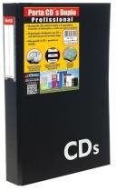 Porta Cds Chies Profissional Duplo com 4 Separadores e Refis 40 Cds Preto 1391-5 -