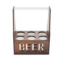 Porta Cerveja Térmico Para 6 Garrafas Quatzo  26X16X34 Cm - F9-12694 - Rojemac