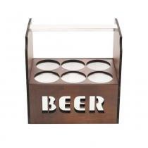 Porta Cerveja Térmico Para 6 Latas Quartzo  - F9-12723 - Rojemac