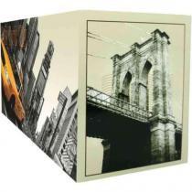 Porta Controle Cinco Divisões New York 10 x 22 cm Bege e Preto - Kapos