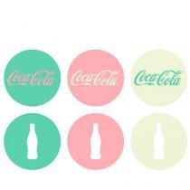 Porta Copos Coca Cola Moderno Cores - 6 peças - Verde - Único - Gorila Clube
