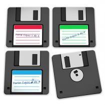 Porta Copos Disquete - Floppy Disk - Yaay