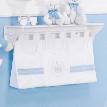 Porta Fraldas Varão Imperial Azul 3 Peças - Batistela Baby - Batistela