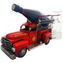 Porta Garrafa De Vinho Caminhão Bombeiro Pequeno - Versare Anos Dourados