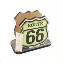 Porta guardanapo mdf route 66 - 7x13cm - Mdf