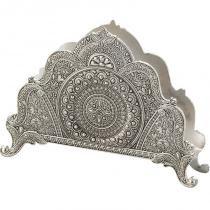 Porta Guardanapos Silver Plated Marrocos 13x9cm - Lyor Classic -