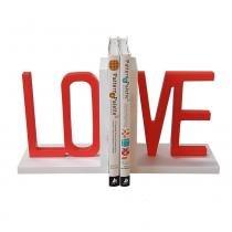 Porta Livros Love Vermelho e Branco - Rosi Zanon