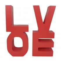 Porta Livros Love Vermelho - Vermelho - Rosi Zanon