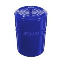 Porta mantimentos de cerâmica Staub azul marinho 1 litro - 24965 - Staub