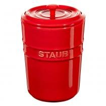 Porta mantimentos de cerâmica Staub cereja 1 litro - 24964 - Staub