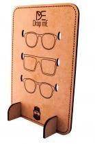 Porta oculos de sol drop me montavel capacidade 3 itens - Drop me acessorios