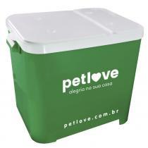 Porta-Ração Petlove para Armazenar até 15 Kg - Verde -