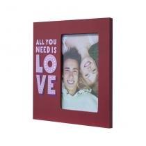 Porta-Retrato All You Need Is Love Vermelho 20x20cm - Kapos