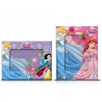 Porta Retrato Infantil Disney Princesas com Glitter 2 Peças - Gedex - Gedex