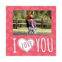 Porta-Retrato Namorado I Love You Rosa 20x20cm - Kapos