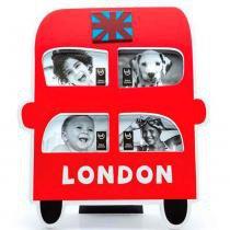 Porta Retrato Ônibus De Londres - Versare Anos Dourados