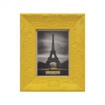 Porta retrato retro amarelo happy 13x18 cm - Amarelo - Santa luzia