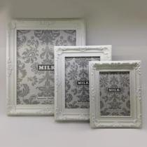 Porta Retrato Retrô de Plastico Branco 13 x 18 CM FNB02-01 - MILK
